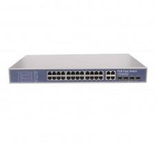 Промышленный PoE коммутатор. 24 порта + 4 uplink (GE)+4SFP, IEEE802.3af/at